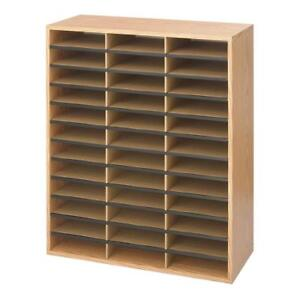 Safco Products Wood corrugated Literature Organizer 36 Compartment 9403