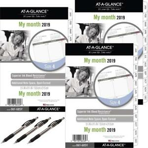 At a glance Day Runner Monthly Planner Refill January 2019 December 2019