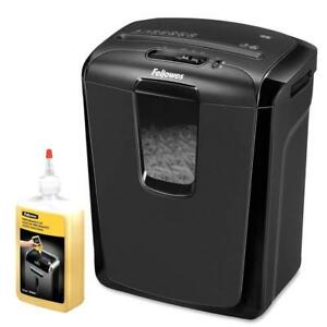 Fellowes Powershred 49c Cross cut Shredder And 12 Oz Oil Personal Office Bundle