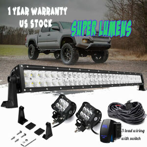 For 2005 18 Toyota Tacoma 30 32 Inch Led Offroad Light Bars Lower Grille Bumper