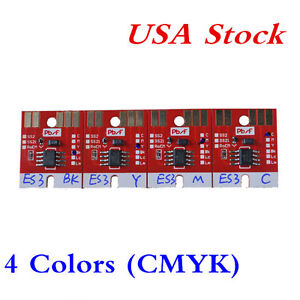 Usa Chip Permanent For Mimaki Jv33 Cjv30 Es3 Cartridge 4 Colors Cmyk