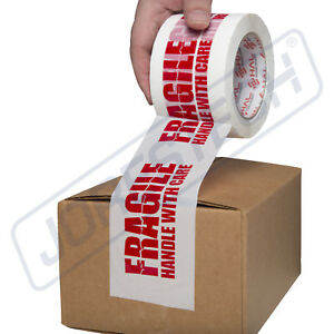 3 Fragile Handle With Care Box Sealing Packing Tape 110 Yards 2 Mil 1 Roll