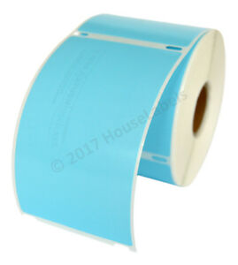 50 Rolls 300 Labels Removable Blue Shipping Labels For Dymo Labelwriters 30256