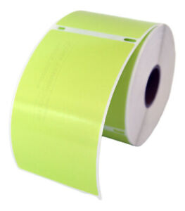 4 Rolls 300 Labels Removable Green Shipping Labels For Dymo Labelwriters 30256