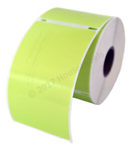 4 Rolls 300 Labels Removable Green Shipping Labels Dymo Labelwriters Lw 30256