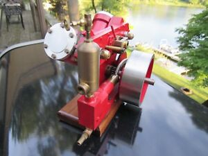 Vintage Original Stuart Turner Style Twin Oscillator Steam Engine Model Runs