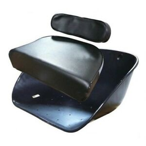 Seat Cushion Backrest Massey Ferguson Harris Tractor F40 35 50 65 85 88 Black