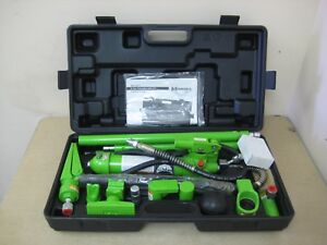 New Monster Mst13011 4 ton Portable Hydraulic Hand Pump Ram Pusher Spreader Kit