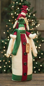 Country Jake Jack Snowman Stack Doll Rustic Primitive Farmhouse Christmas