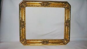 Vintage Gold Gilt Wooden Frame 11 5 X 9 5