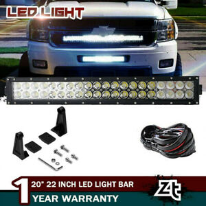 2011 14 Chevy Silverado 1500 2500 3500 Lower Grille Bumper 20 22 Led Light Bar