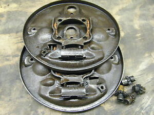 Vw Bug Rear Brake Backing Plates 58 64 Original German