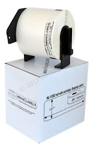 9 Rolls Dk 1202 Brother Compatible Removable Shipping Labels With Permanent Cart