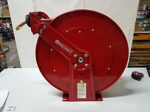 Reelcraft Air water Hose Reel With 1 2in X 100ft Pvc Hose Max 300 Psi Mod