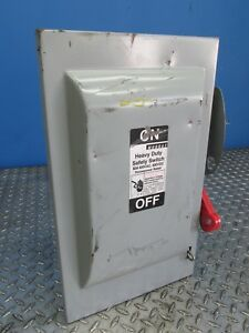60 Amp Murray Heavy Duty Safety Disconnect Switch 600 Vac dc Hhn362