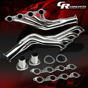 For Chevy 396 402 427 454 Stainless Big Block Exhaust Manifold Long Tube Header