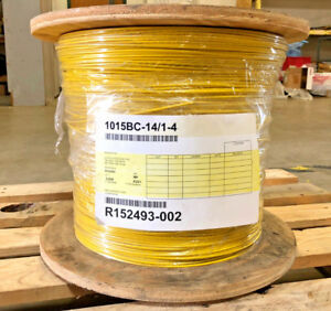 Hook up Wire Ul 1015 14 Awg Solid 600v Bare Copper Pvc Yellow