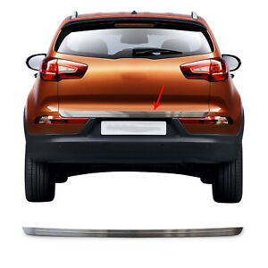 Chrome Trunk Lid Protect Cover Trim Brushed S steel For Kia Sportage 2010 2016