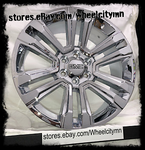 20 Inch Chrome 2018 2017 Gmc Sierra 1500 Yukon Denali Oe Replica Wheels 6x5 5