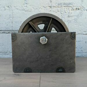 6 V Groove 7 8 Iron Steel Caster Metal Gate Wheel With Optional Box