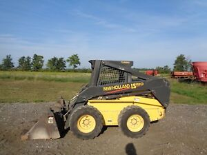 2003 New Holland Ls180 Skid Loader High Flow Sticks pedals 4n1 Bucket 809hrs