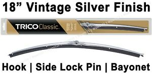 Classic Wiper Blade 18 Antique Vintage Styling Silver Finish Trico 33 183