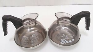Lot Of 2 Bunn Pour o matic 12 Cup Unbreakable Commercial Coffee Carafe Sh