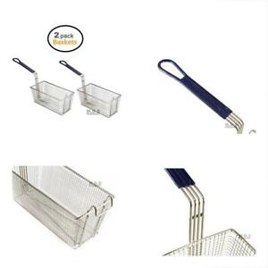 Baskets Frying Deep Fryer Parts Accessories 2 Commercial Heavy Duty Stainless