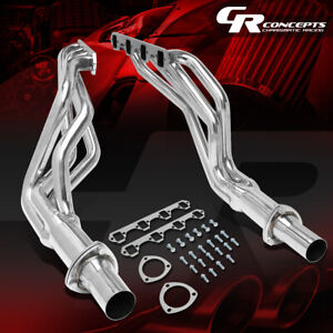 Pair Stainless Steel Long Tube Exhaust Header For 64 70 Ford Mustang 260 351 V8