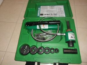 Greenlee 7306sb Hydraulic Knockout Punch Set