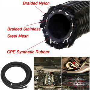 Nylon Stainless Steel Braided Nbr Cpe Synthetic Rubber Oil Fuel Line An20 20an