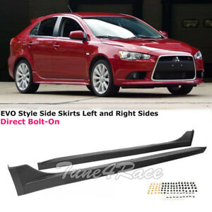 For 2008 2017 Mitsubishi Lancer Rocker Molding Evo Style Side Skirts Left Right