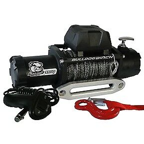 Bulldog Winch 10045 9500 Lb 5 5hp Aluminum Hawse Fairlead 100 Ft Synthetic Rope