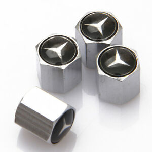 Car Accessories Styling Wheel Tire Valve Stems Caps Badge Logo For Mercedes Benz
