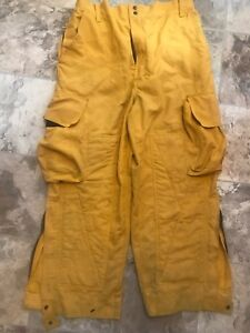 Barrier Wear Firefighter Brush Wildland Pants Yellow Size Large W 28 Inseam