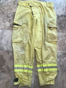 Sierra Firefighter Brush Wildland Pants Yellow Size 38 X 32 Reflector