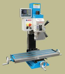 Weiss Vm 25l Bench Top Milling Machine W Preinstalled 3 Axis Magnetic Scale Dro