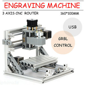 3 Axis Cnc 1610 Router 500mw Laser Usb Engraver Milling Machine W Grbl Control
