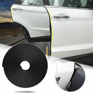 190 Black Rubber Body Side Door Edge Guard Bumper Protection Sticker Strip