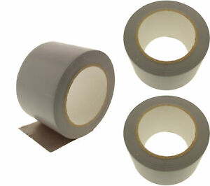 3x 3 Gray Pvc Rubber Vinyl Tape Electrical Sealing Floor Osha Safety Marking