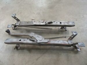1981 1987 Chevrolet Gmc Truck Interior Front Bench Seat Floor Track Guide Pair