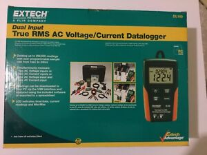 Extech Dl160 Dual Input True Rms Ac Voltage current Datalogger New