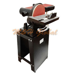 6 X 9 Belt Disc Sander With Stand Tilt Table Vertical Horizontal Disk Sander