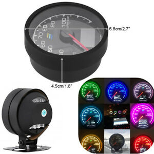 7 Color Car Water Temp Meter Gauge W Lcd Voltage Display adaptor Not Included