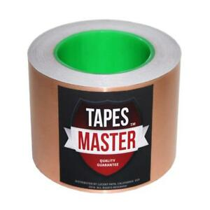Tapes Master 3 x36 Yds Copper Foil Tape Emi Shielding Conductive Adhesive Tape