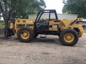 2005 Caterpillar Th460b Diesel Telescopic Telehandler Boom Forklift 9 000 Lbs
