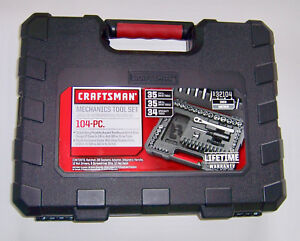 Brand New Craftsmans 104 Pc Mechanics Tool Set 9 32104