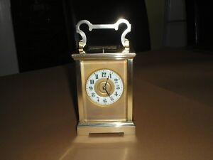 Antique French Large Brass Repeater Chimes Carriage Clock Original Case C1870