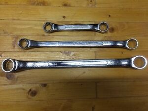 Nos S K Sk Tools Double Box End Wrench Set Of 3 B 2628 B 2024 M 2022 Mint