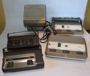 Lot Of 4 Vintage 2 Way Radio Control Heads 2 Solid State And 2 Motorola Untested